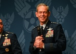 Gen. Ken Wilsbach, Pacific Air Forces commander, shared his commander's perspective as a guest panelist for the Air Force Association's Agile Combat Employment panel during Air Force Association's Air, Space and Cyber Conference, Washington D.C., Sept. 20, 2021. The panel consisted of Wilsbach, Gen. Jeffery Harrigian, U.S. Air Forces in Europe and Air Forces Africa commander, and Lt. Gen. James Slife, Air Force Special Operations Command commander.