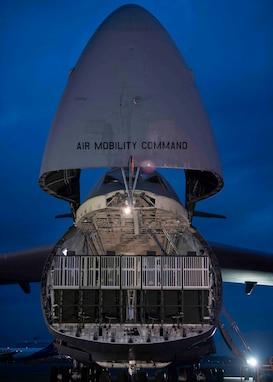 Yokota Airmen train with the colossal C-5M Super Galaxy