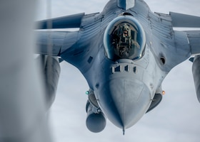 U.S. Air Force Capt. Joseph Christensen, pilot assigned to the 120th Fighter Squadron, gets his aircraft refueled while returning from exercise Amalgam Dart 21-01, June 17, 2021.
