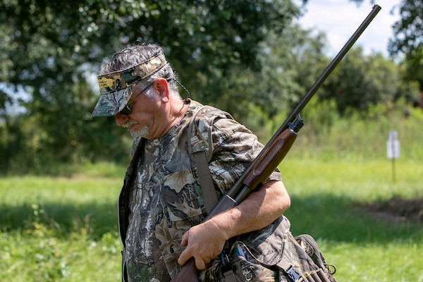 A participant prepares to enter the fields during the 7th annual Warriors Dove Hunt in St. Stephen, SC. The Cooper River Rediversion Project is home to 90-acres of pristine dove hunting fields managed by the South Carolina Department of Natural Resources.