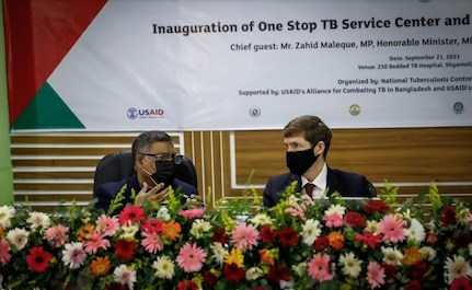 U.S Ambassador Miller and Health Minister Zahid Maleque Inaugurate Country's First One-Stop TB Service Center