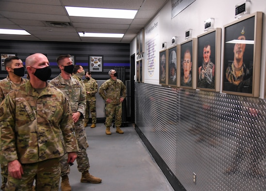 The 91st Security Forces Group has unveiled a memorial wall to honor the 14 Security Forces members who made the ultimate sacrifice since the tragedy of 9/11.