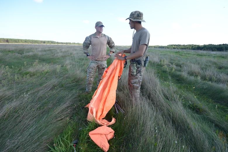 Airman place drop zone indicator.