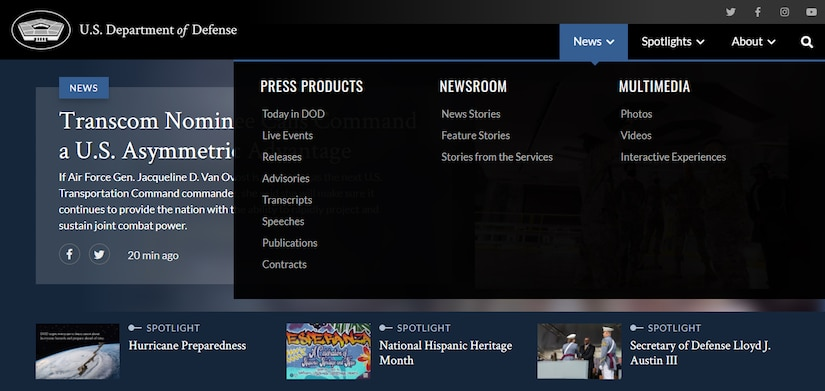 An image of a website is shown