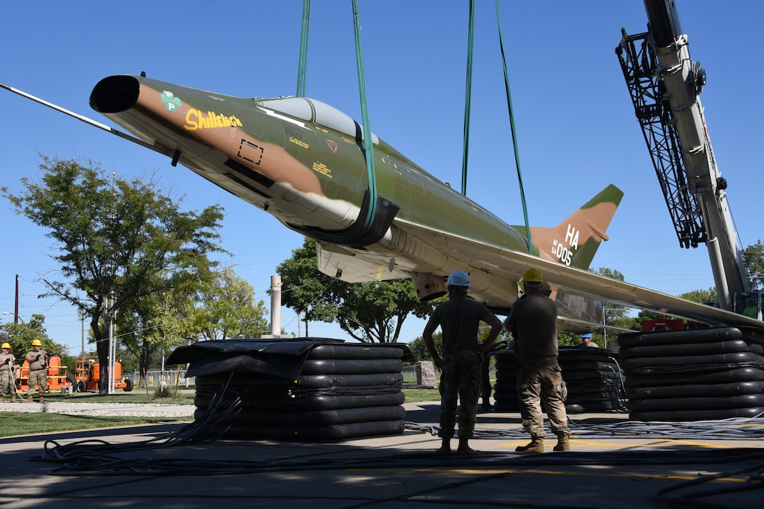 F-100 is removed from static display