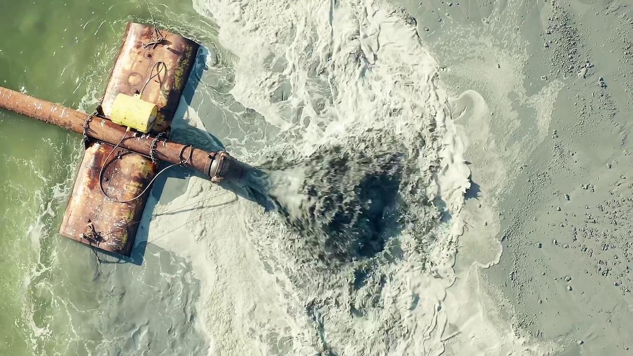 Aerial shot of Crab Bank restoration