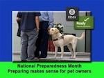 National Preparedness Month includes emergency prepping for our pets