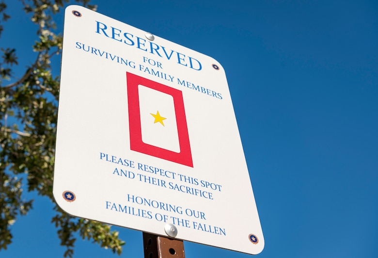 A parking spot for gold star families is located at the Commissary and Base Exchange in honor of Gold Star Mother's and Family's Day