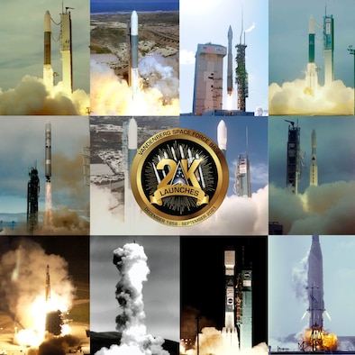 collage of rocket launches from Vandenberg