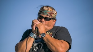 The Blue Mountain Tribe performs at the 74th Air Force Birthday picnic at Edwards Air Force Base, California, Sept. 17. (Air Force photo by Giancarlo Casem)