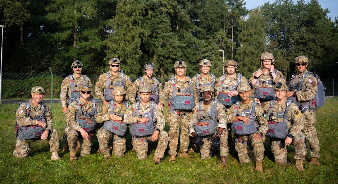 U.S. Airmen and NATO allies group photo.