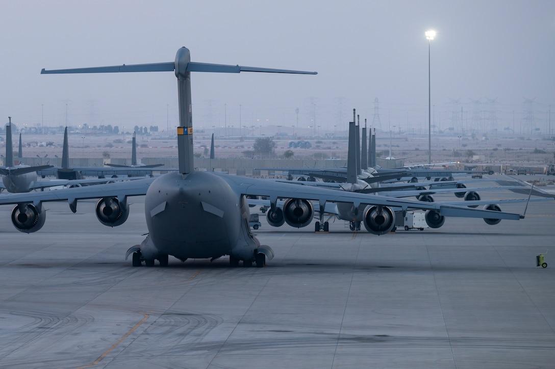 Aircraft on flightline.