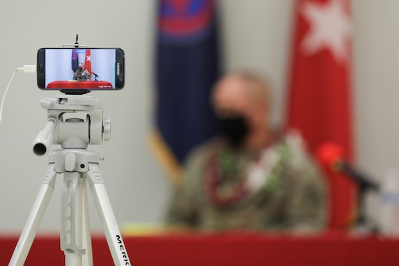 """9th Mission Support Command Holds """"Hybrid"""" Town Hall at Fort Shafter Flats"""