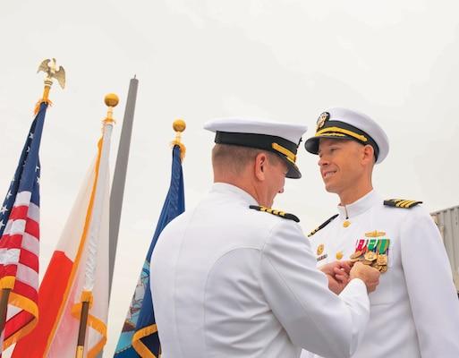 USS Milius holds Change of Command ceremony