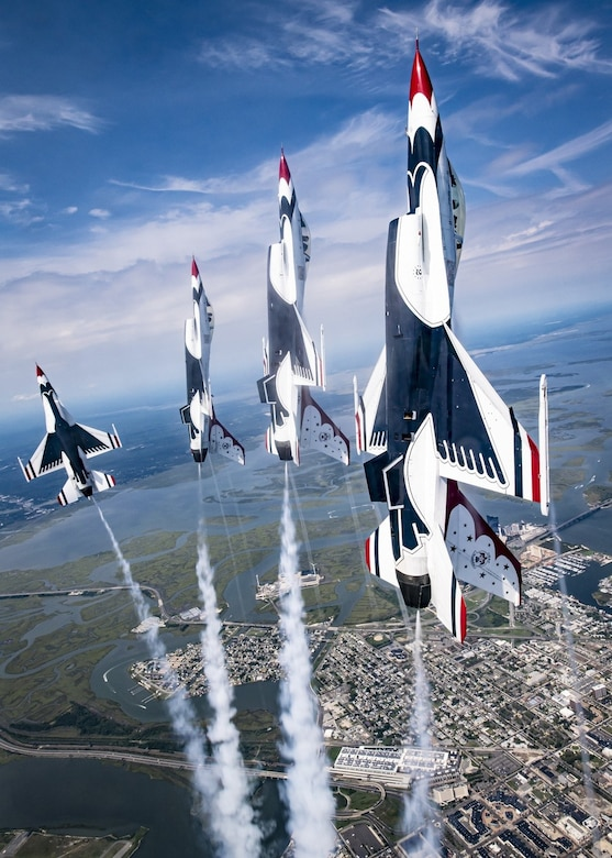 Photo of F-16s flying