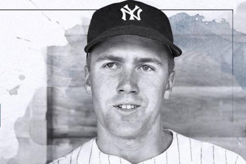 A headshot of a baseball player.