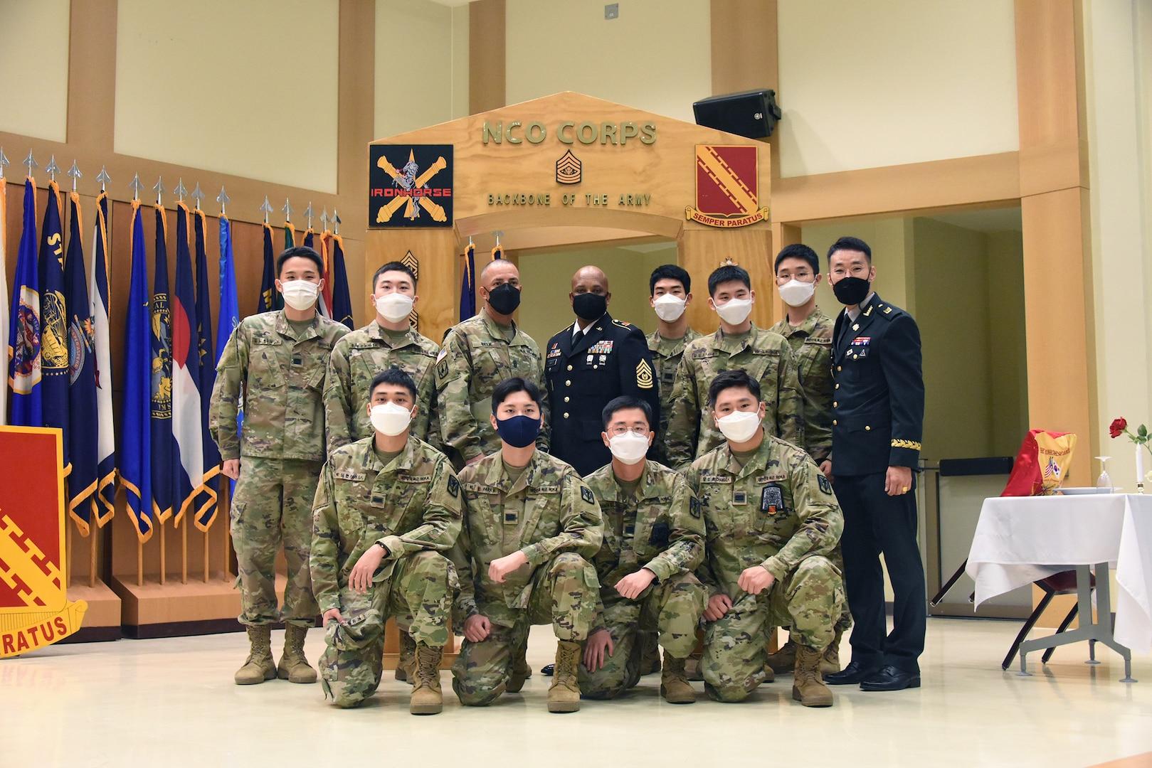 KATUSAs participate in NCO induction ceremony