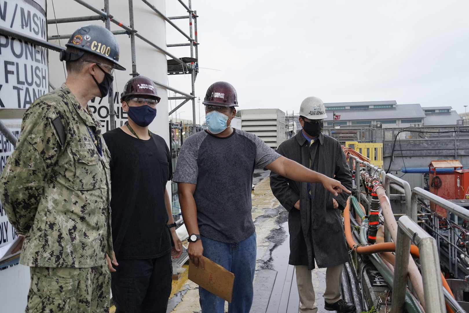 Pipefitter Apprentices Alex Soulliere and Francis Dumlao provide an overview of the improvements made to USS Mississippi's (SSN-782) Vertical Launch System (VLS) Missile Tube Air Pressure Vent (APV) pipe drying process.