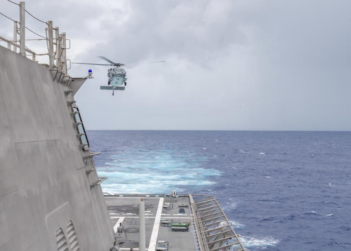HSC -21 Conducts Flight Operations Aboard USS Charleston