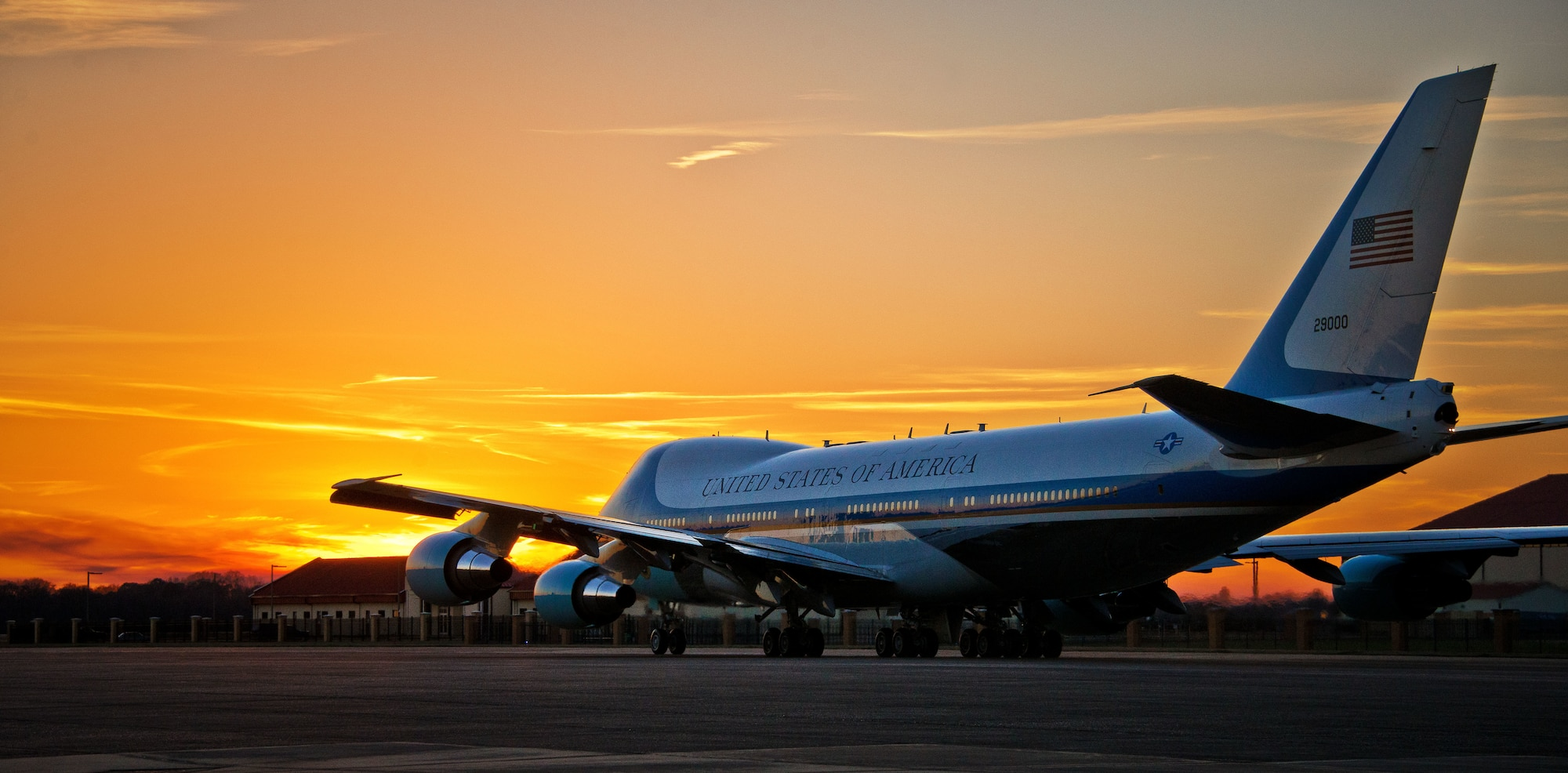 Air Force One departs Maxwell Air Force Base