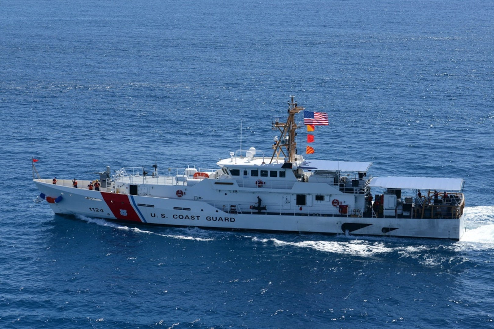 U.S. Coast Guard patrols international waters in an effort to strengthen maritime governance and foreign partnerships