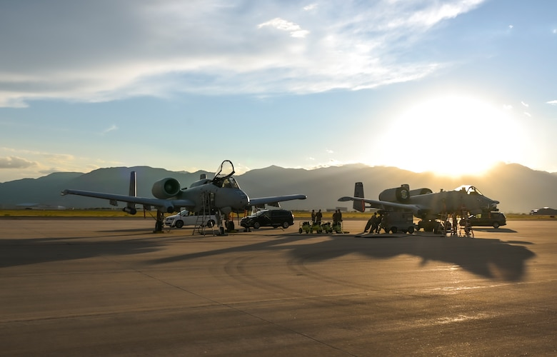 A photo of planes on the flight line