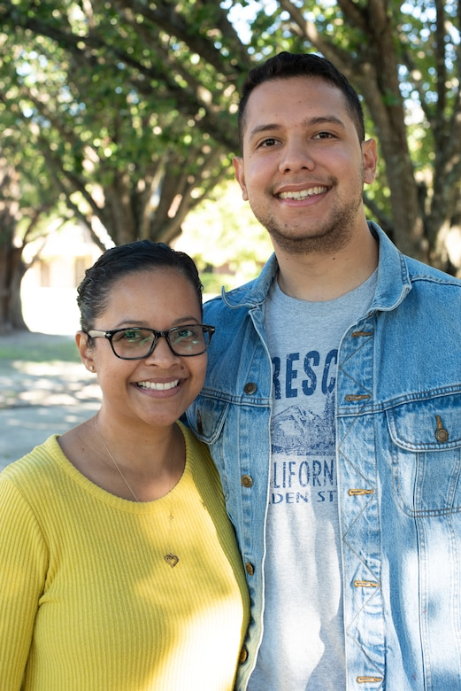 Photo of two people standing together