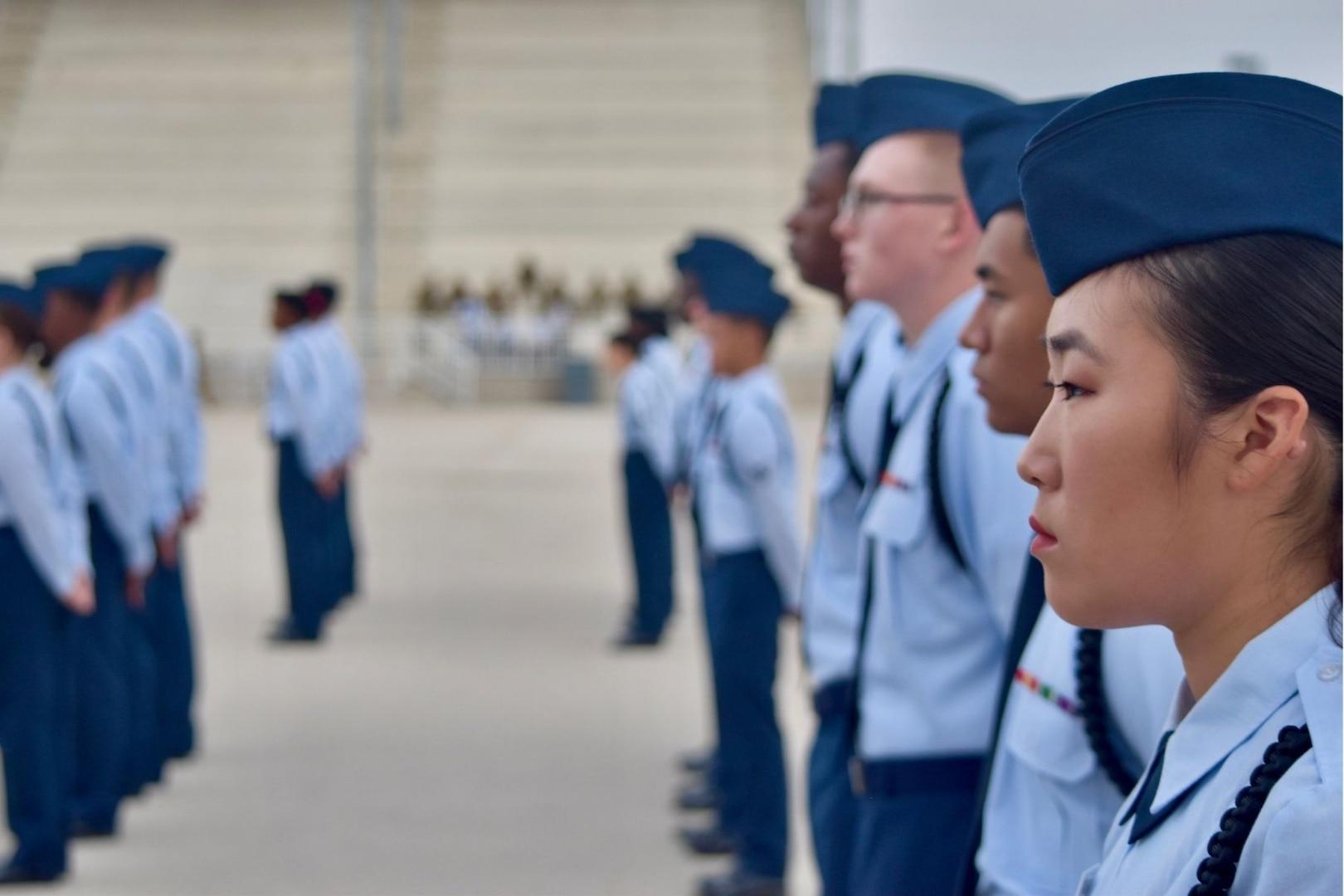 Airmen in formation