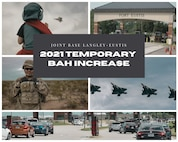 Graphic for BAH temporary increase
