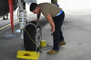 Crew chiefs ensure overall mission readiness of the F-35A Lightning II by servicing, refueling, and inspecting the aircraft.