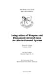 Integration of Weaponized Unmanned Aircraft into the Air-to-Ground System