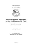Impact of Foreign Ownership on the Civil Reserve Air Fleet