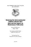 Reducing the Intercontinental Ballistic Missile Alert Rate and the Impact on Maintenance Utilization