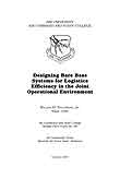 Designing Bare Base Systems for Logistics Efficiency in the Joint Operational Environment