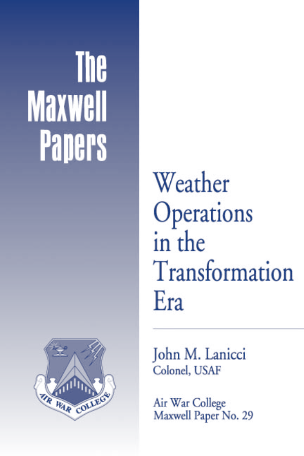 Weather Operations in the Transformation Era