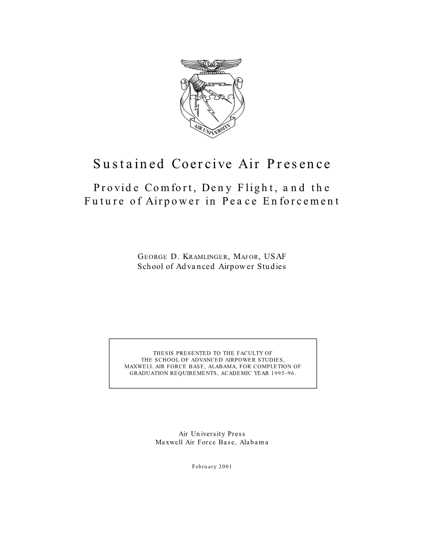 Sustained Coercive Air Presence