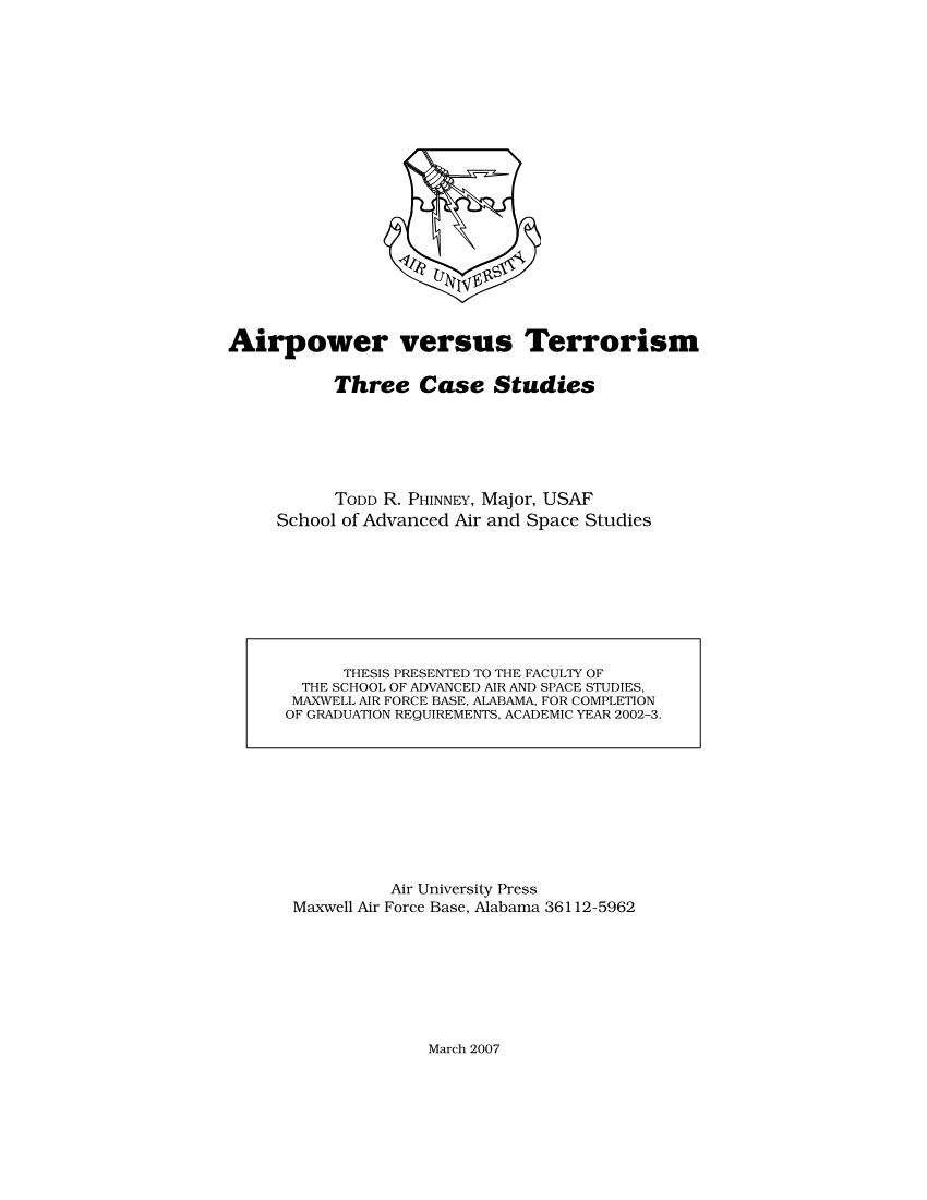 Airpower versus Terrorism