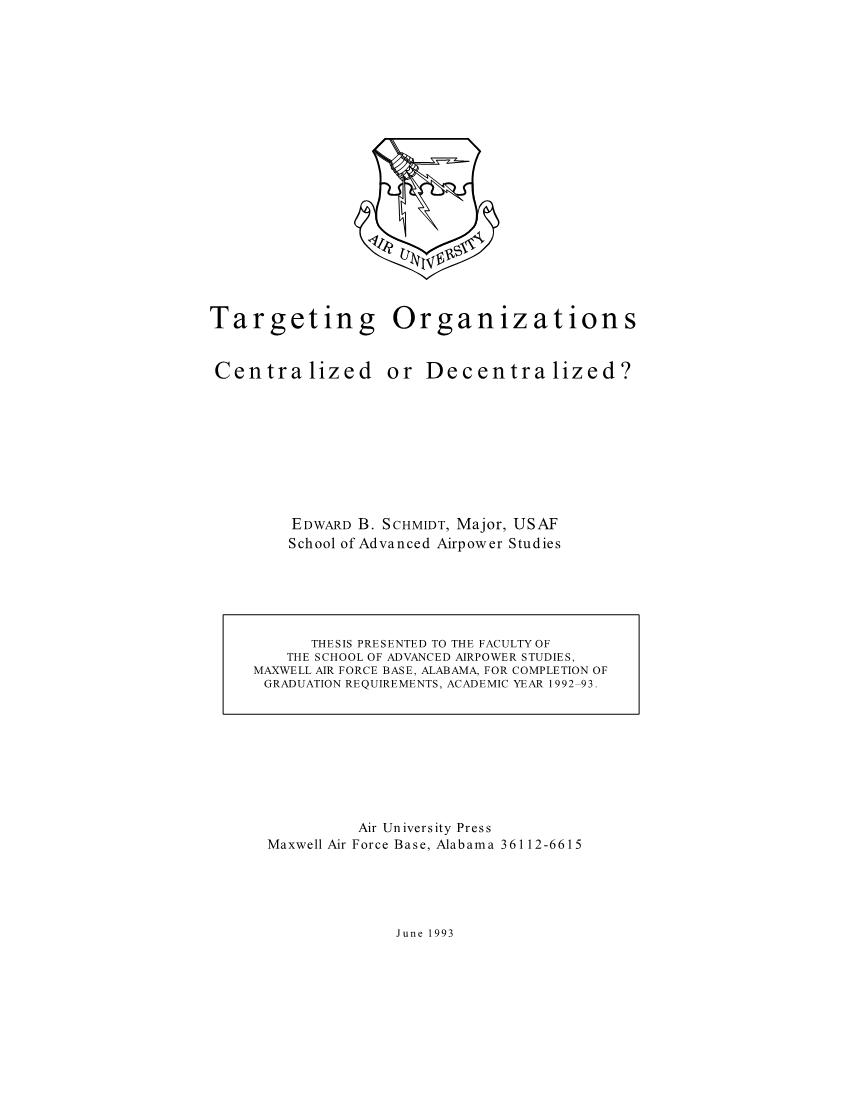 Targeting Organizations