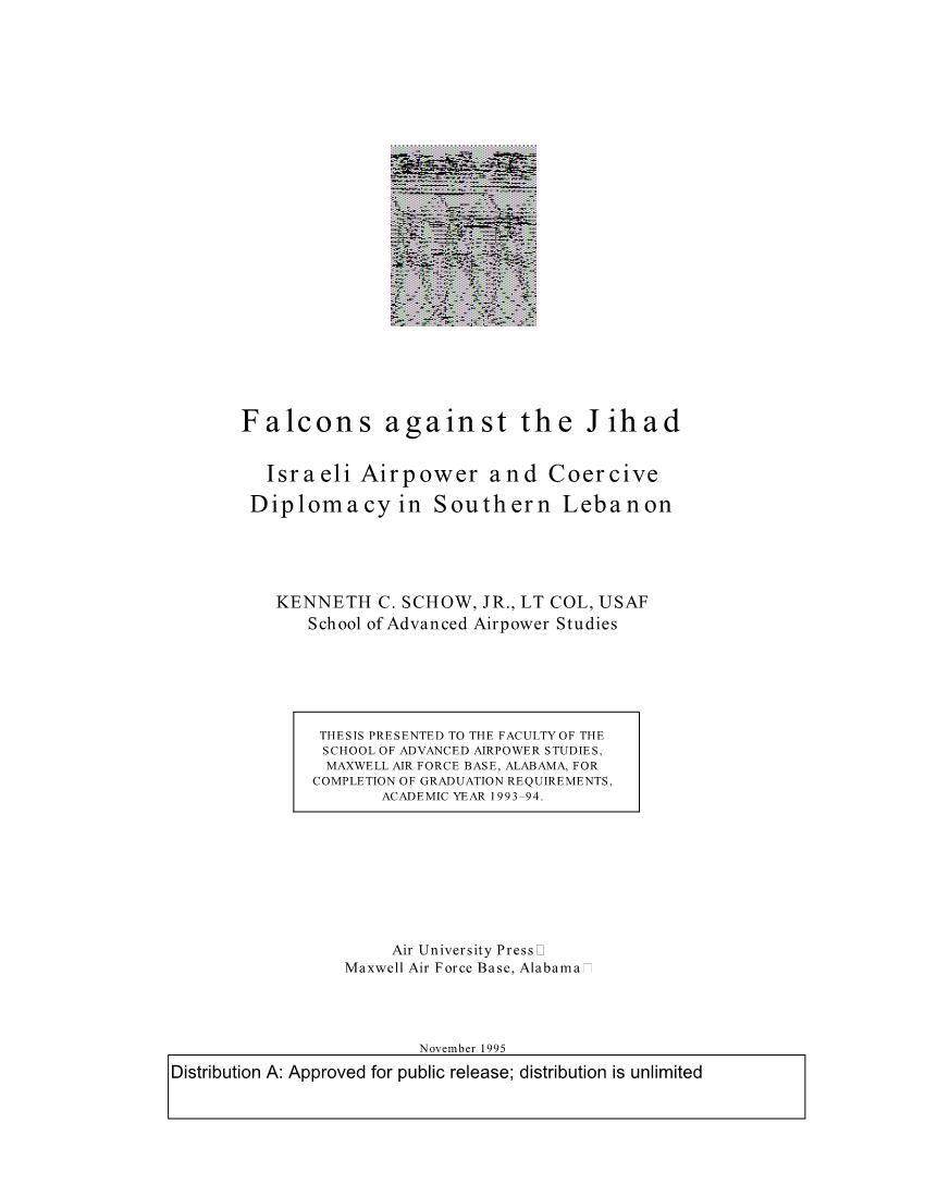 Falcons against the Jihad