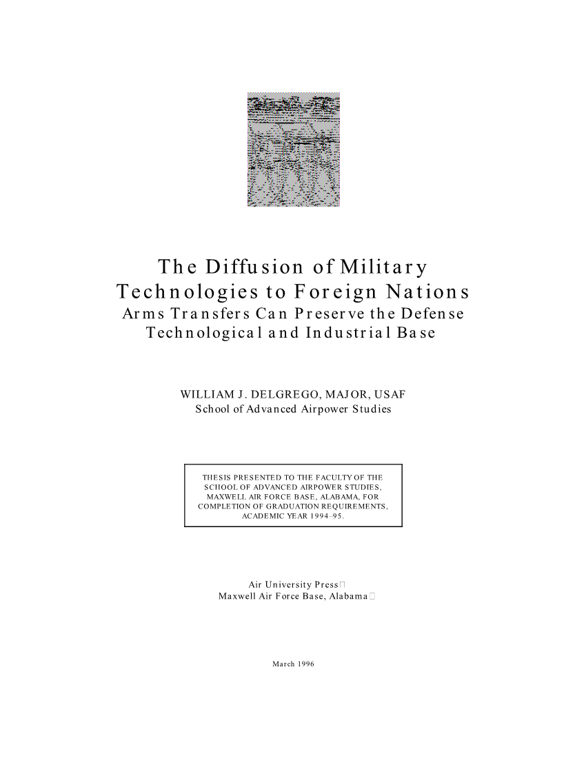 The Diffusion of Military Technologies to Foreign Nations