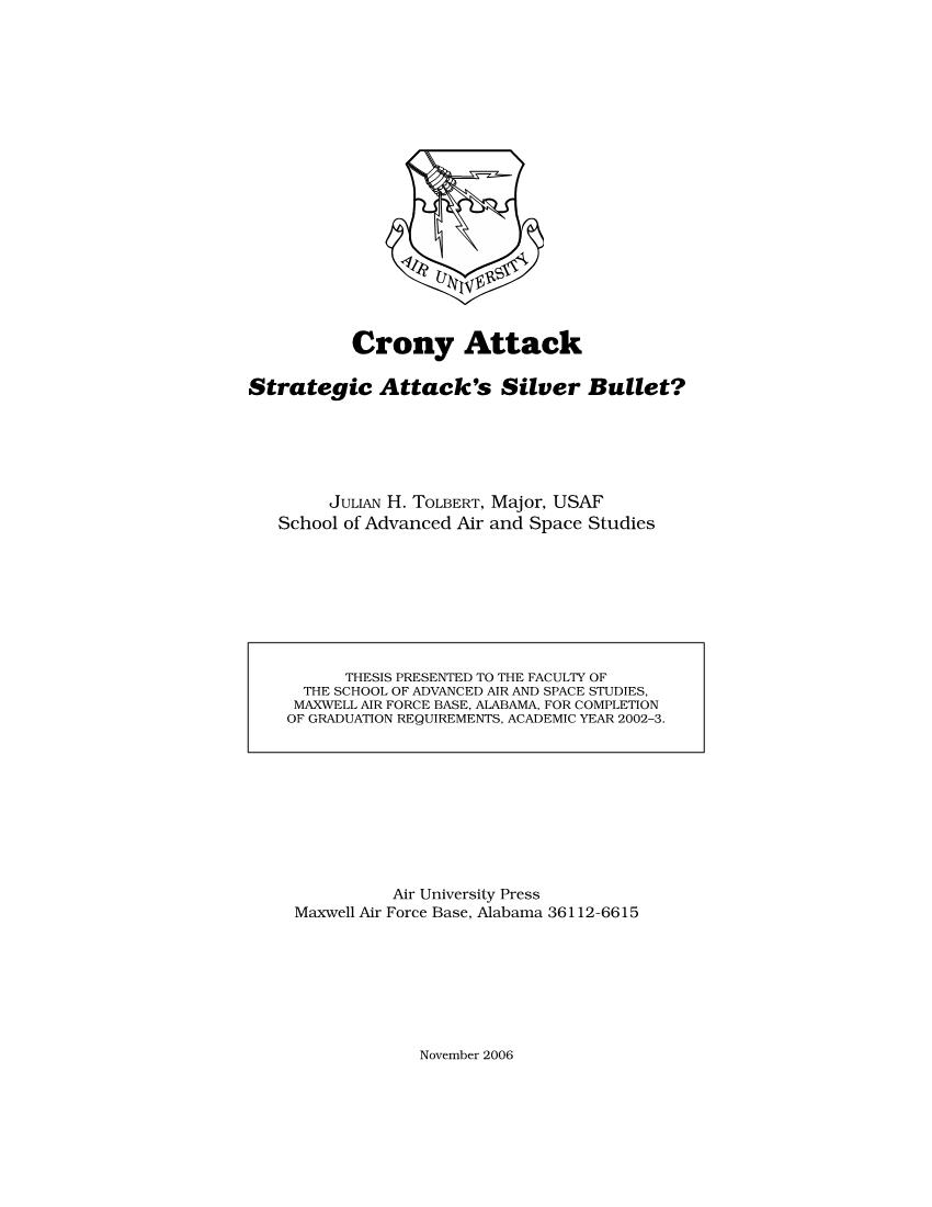 Crony Attack