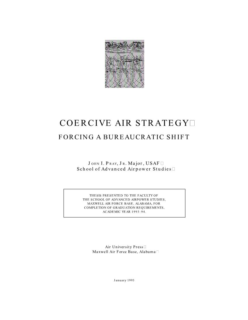 Coercive Air Strategy