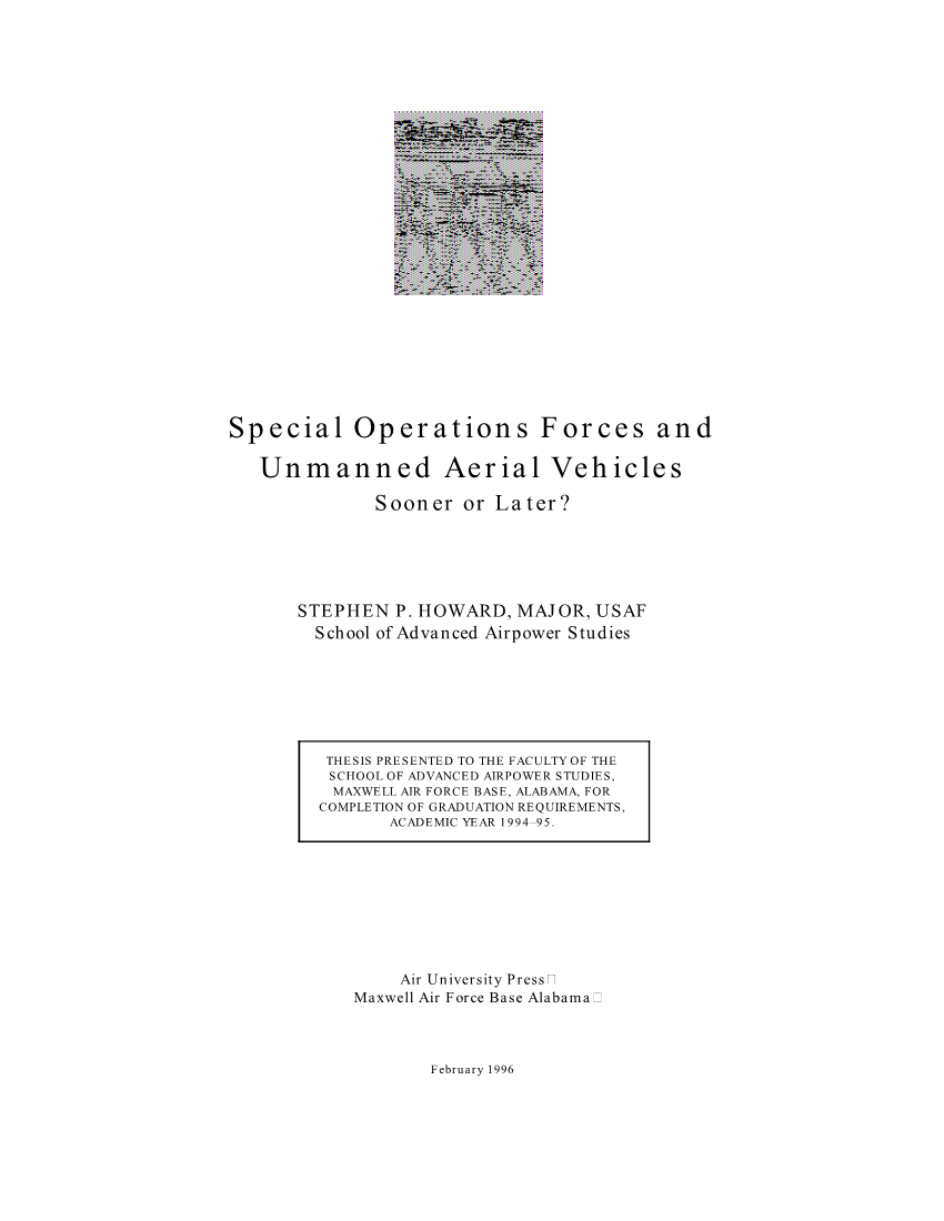 Special Operations Forces and Unmanned Aerial Vehicles