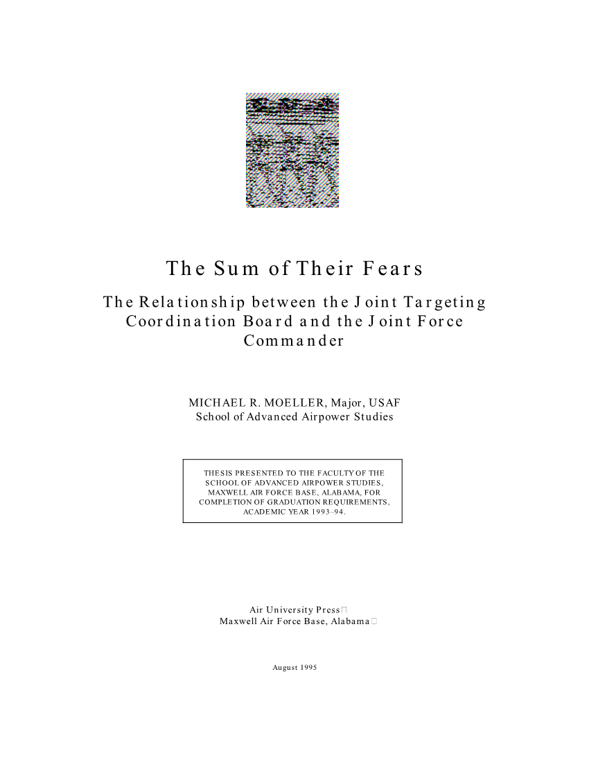 The Sum of Their Fears