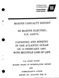 Marine Casualty Report SS Marine Eletric, O.N. 245675 Capsizing and sinking in the Atlantic Ocean on 12 February 1983 with multiple loos of life.