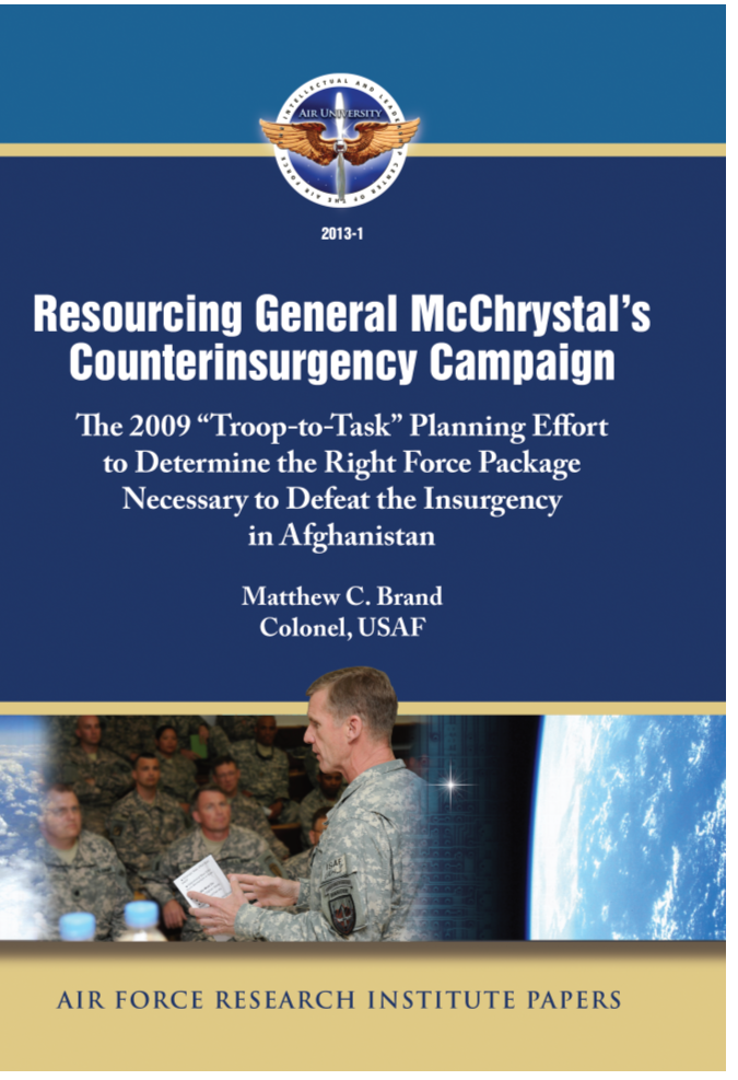 Resourcing General McChrystal's Counterinsurgency Campaign