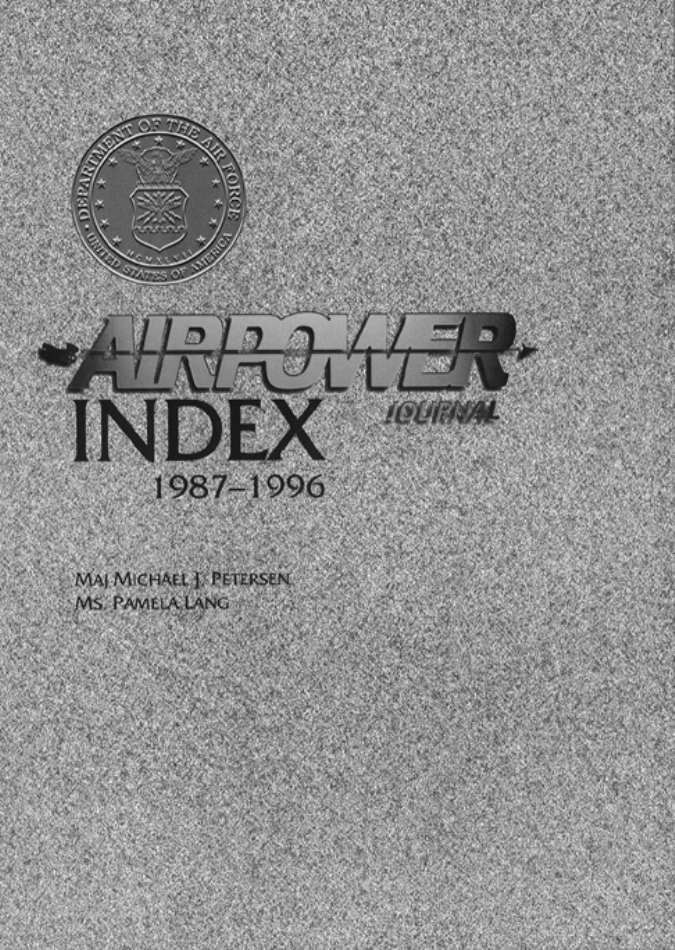 Airpower Journal Index, 1987-1996