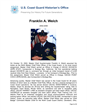 Franklin Welch Master Chief Petty Officer of the Coast Guard (MCPOCG) Biography