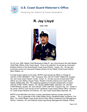 Jay Lloyd Master Chief Petty Officer of the Coast Guard (MCPOCG) Biography