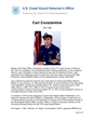 Carl Constantine Master Chief Petty Officer of the Coast Guard (MCPOCG) Biography
